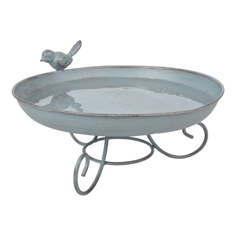 Šedá kovová koupel pro ptactvo Esschert Design