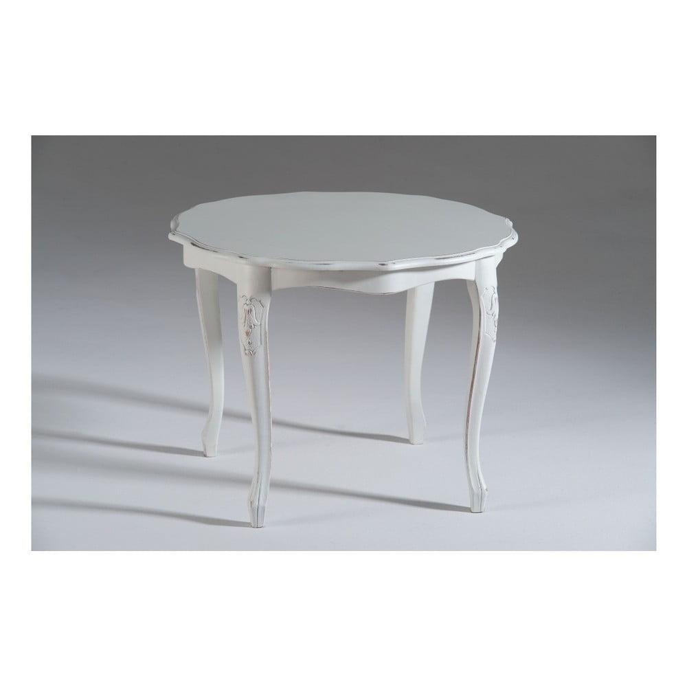 Bílý dřevěný odkládací stolek Castagnetti Martine