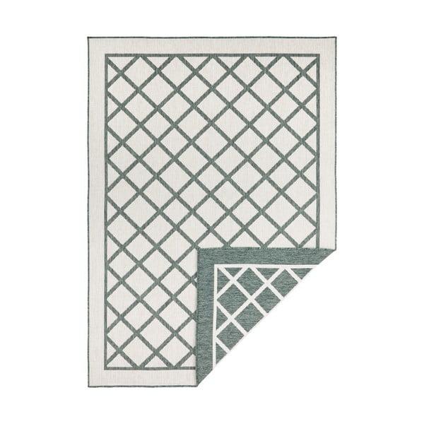 Covor adecvat pentru exterior Bougari Twin Supreme, 80 x 150 cm, verde-crem