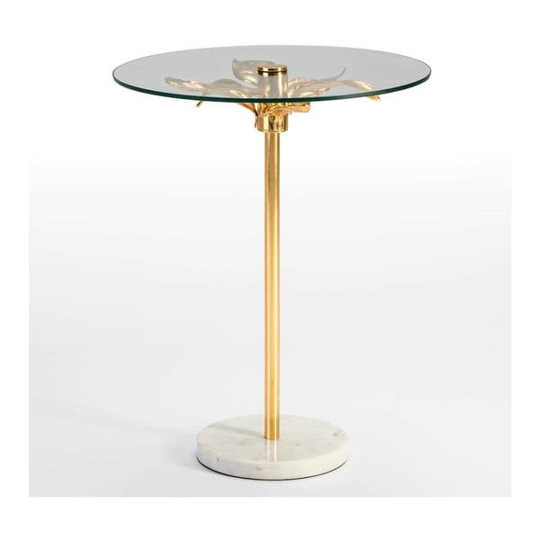 Odkládací stolek ze skla a mramoru Thai Natura Aux