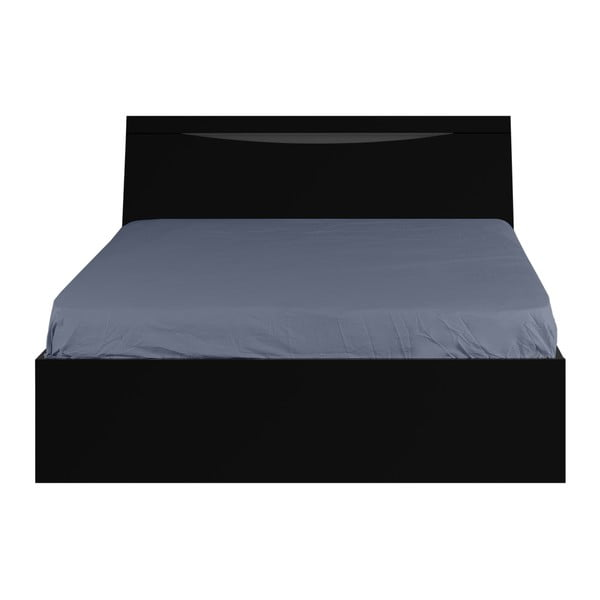 Čierna dvojlôžková posteľ Artemob Letty, 140 × 200 cm