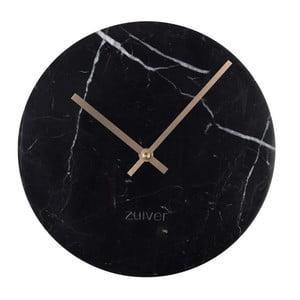 Ceas de perete din marmură Zuiver Marble Time, negru