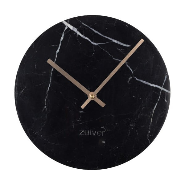Marble Time fekete márvány falióra - Zuiver