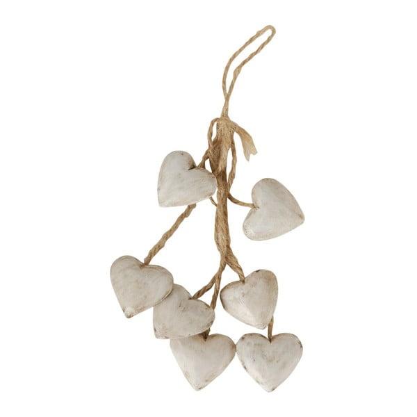 Závěsná dekorace Antic Line White Heart