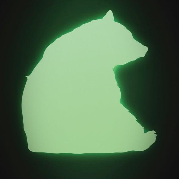 Samolepka svítící ve tmě Medvěd