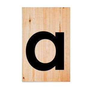 Dřevěná cedule Letters A