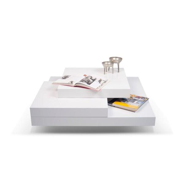 Bílý konferenční stolek stolek TemaHome Slate