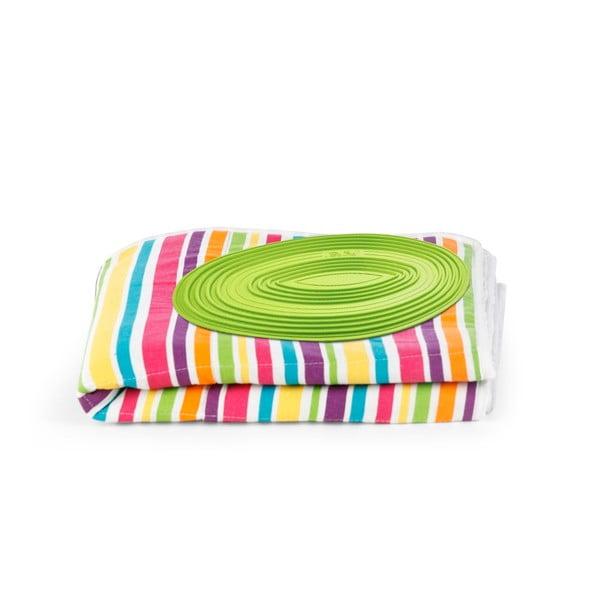 Set žehlicí podložky a zatahovací šňůry na prádlo Bonita Multi Strips Green