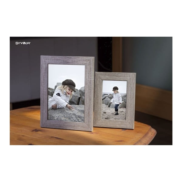 Šedohnědý rámeček na fotografii Styler Narvik, 40x50cm