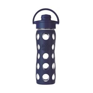 Sticlă de voiaj, din sticlă cu protecție din silicon, Lifefactory Flip Midnight, 475 ml