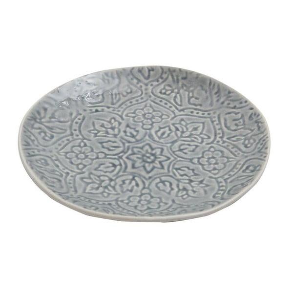 Keramický talíř Botanic Dusty Blue, 22 cm
