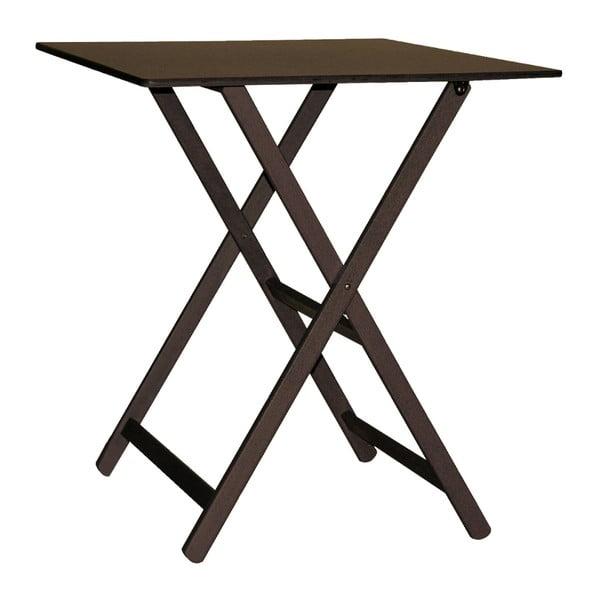 Tmavě hnědý skládací stůl z bukového dřeva Valdomo Maison, 60x80cm
