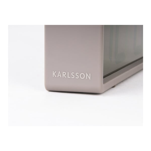 Šedý stolní budík Karlsson Coy