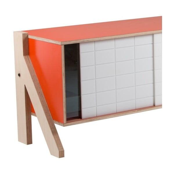 Oranžová komoda rform Frame, délka 115 cm