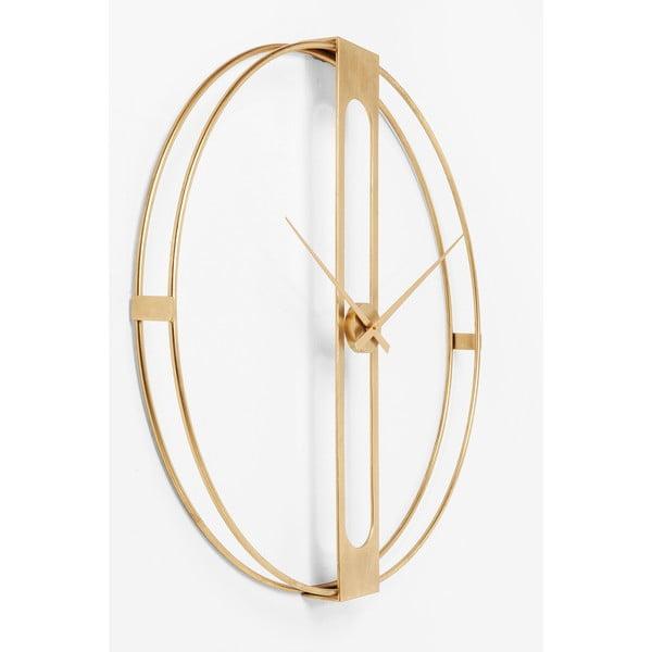 Ceas de perete Kare Design Clip, ø107cm, auriu