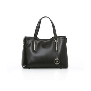 Černá kožená kabelka Lia Biassoni Coghina