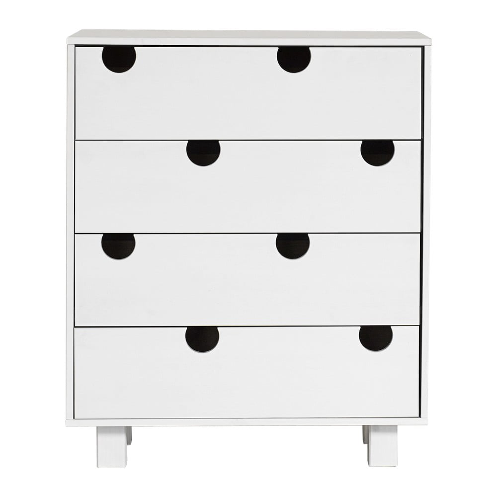 Komoda se čtyřmi zásuvkami Karup Design House White/White