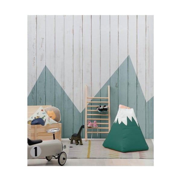Zelený dekorativní puf Little Nice Things Mountain