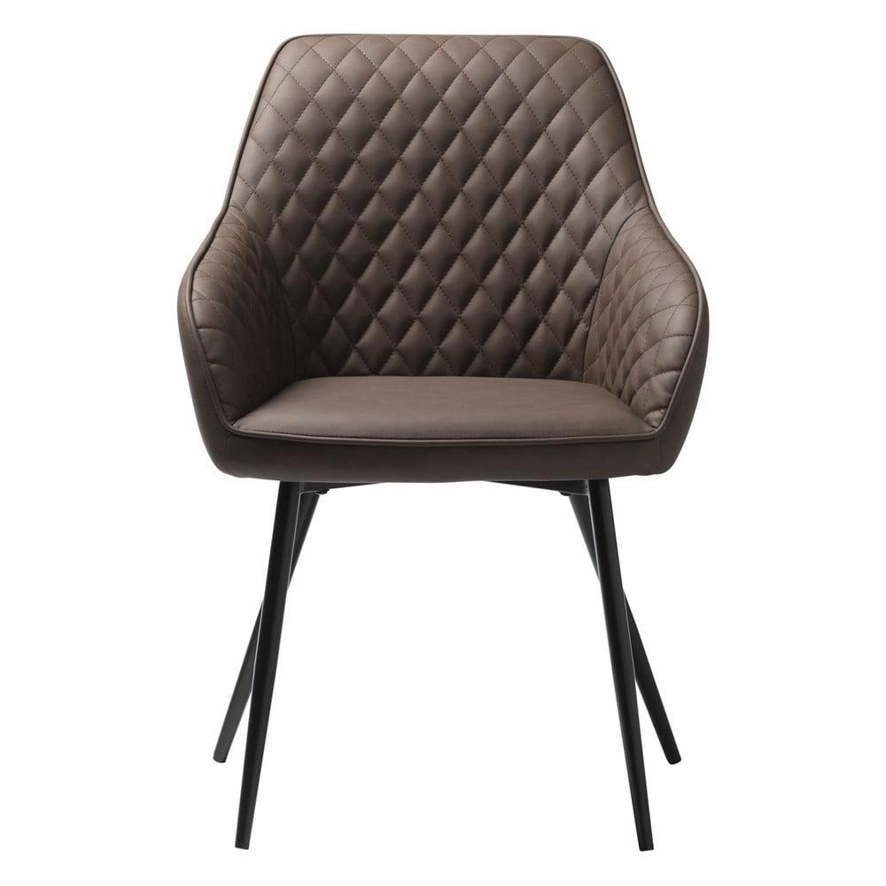 Hnědá koženková jídelní židle Unique Furniture Milton Unique Furniture