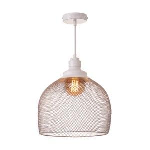 Bílá závěsná lampa Unimasa
