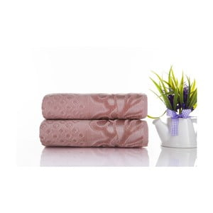 Sada 2ks ručníků Kumsal Rose, 50x90 cm