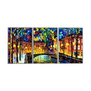3dílný obraz Art Amsterdam, 45x90 cm