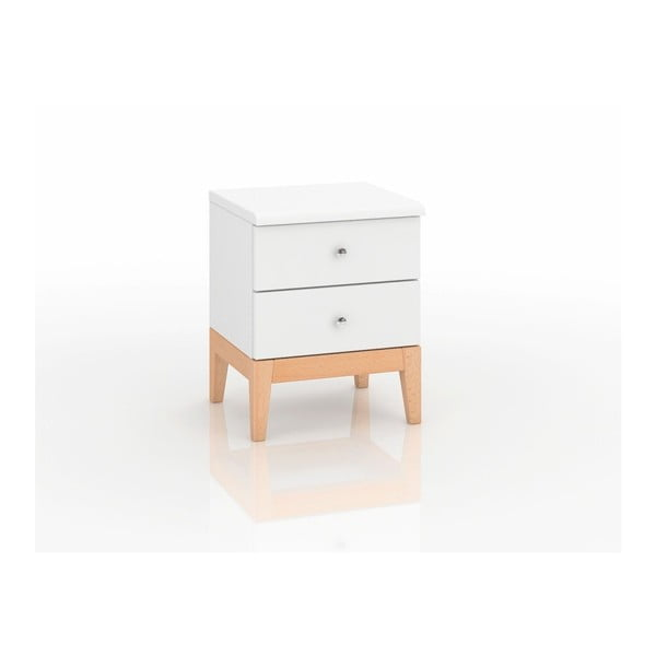 Nočný stolík z masívneho borovicového dreva SKANDICA Livia 2S