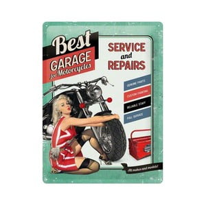 Cedule Best Garage, 30x40 cm