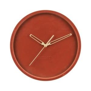 Jílově hnědé sametové nástěnné hodiny Karlsson Lush,ø30cm