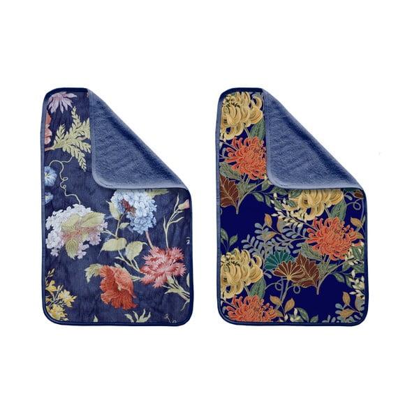 Sada 2 ručníků Madre Selva Tierra Blue Flowers