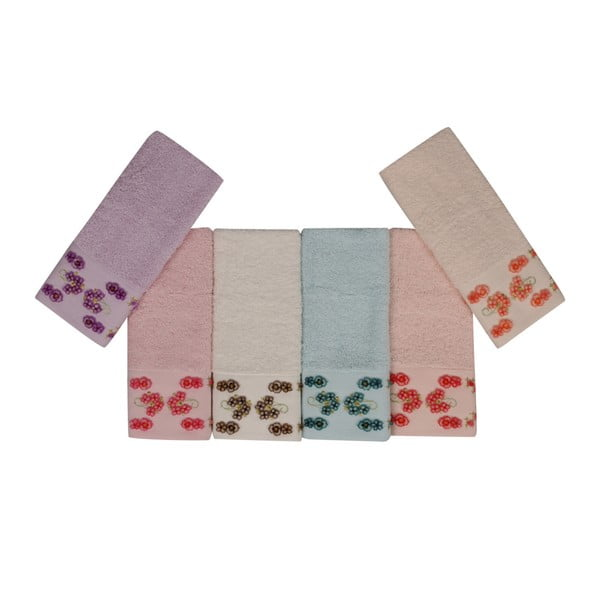 Sada 6 barevných ručníků z čisté bavlny Bathtime, 30 x 50 cm