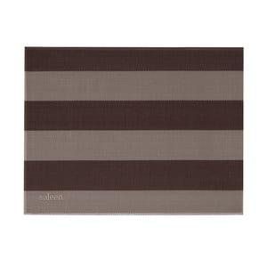 Béžovo-hnědé pruhované prostírání Saleen Stripy