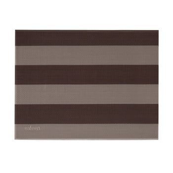 Suport farfurie Saleen Stripy, bej - maro