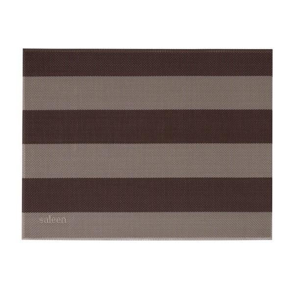 Beżowo-brązowa mata stołowa w paski Saleen Stripy