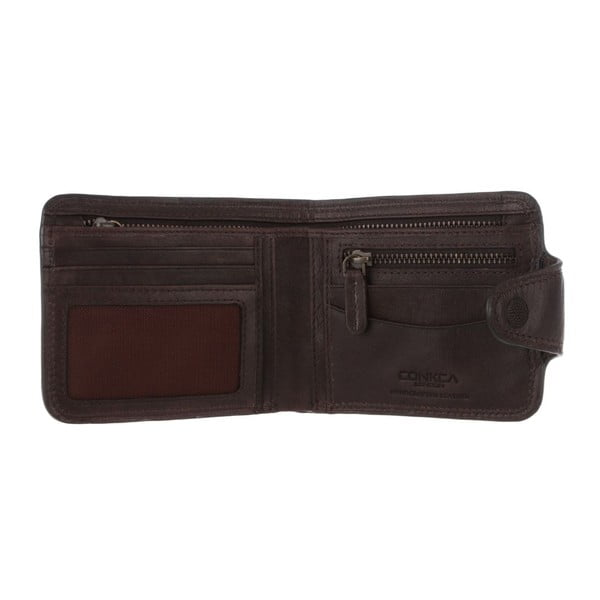 Kožená peněženka Clark Darkest Brown