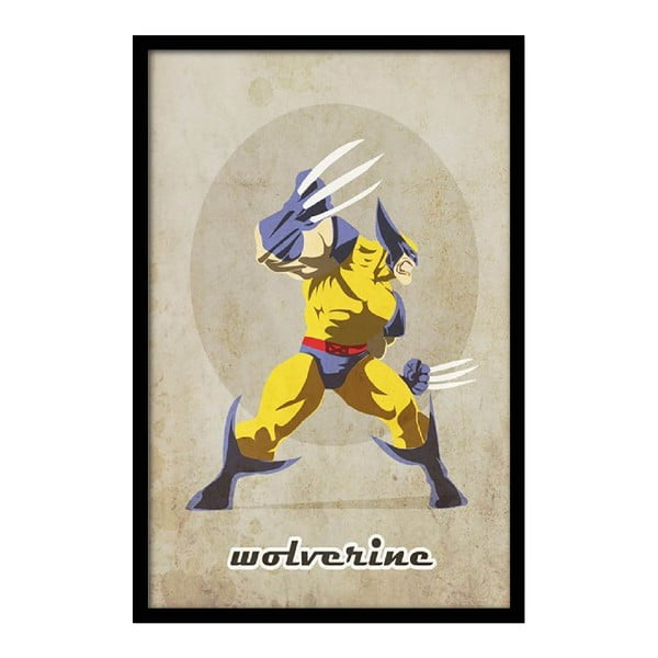 Plakát Angry Wolverine, 35x30 cm