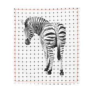 Kuchyňská utěrka Present Time Tiles Zebra, 50x70 cm