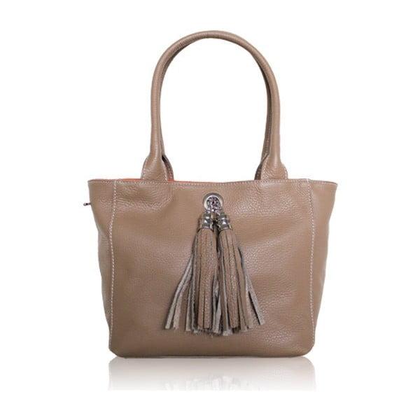 Oboustranná kožená kabelka Dolce Sonia Tortora/Arancio
