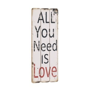 Cedule All you need is love, 76x31 cm
