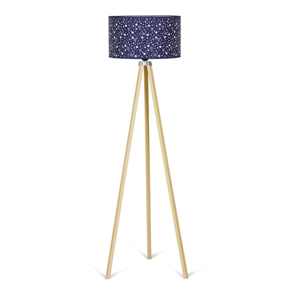 Stojací lampa Kate Louise Naturel Navy