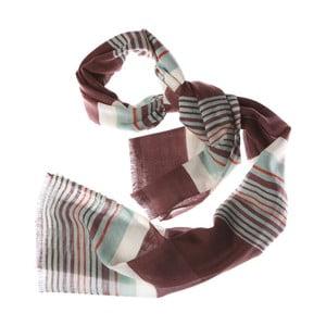 Šátek Bold Stripe Green, 180x70 cm