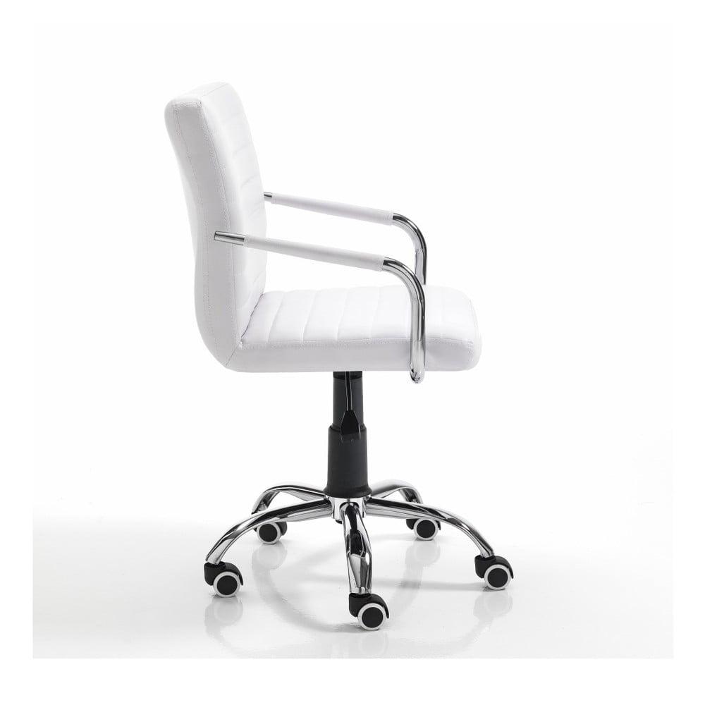 Produktové foto Bílá kancelářská židle na kolečkách Tomasucci Milko