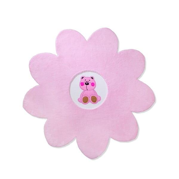 Dětský koberec Beybis Pink Teddy, 120 cm