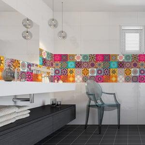 Sada 24 dekorativních samolepek na zeď Ambiance Clarissa, 20x20cm