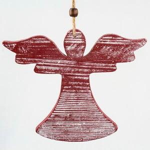 Závěsná červená dekorace Dakls Anděl