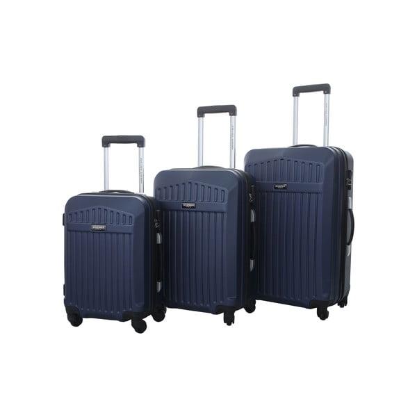 Sada 3 kufrů Jean Louis Scherrer Blue