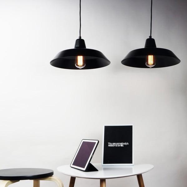 Sada 2 černých stropních lamp Bulb Attack Cinco