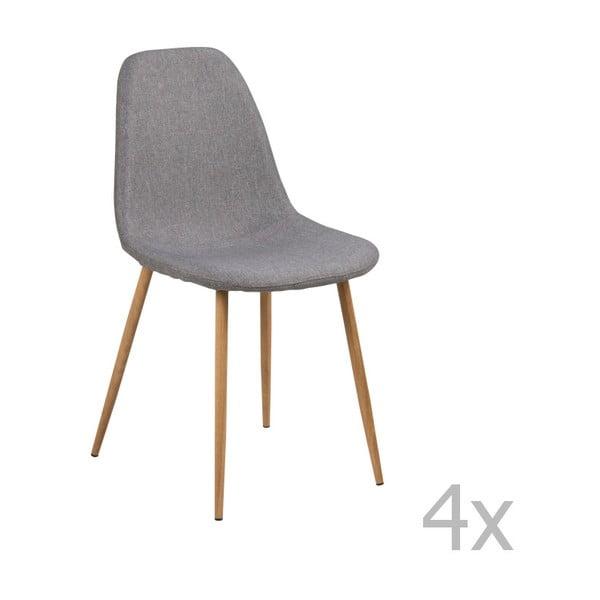 Sada 4 světle šedých jídelních židlí Actona Wilma Sawana Dining Set