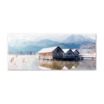 Tablou Styler Glasspik Pastel Lake, 50 x 125 cm imagine