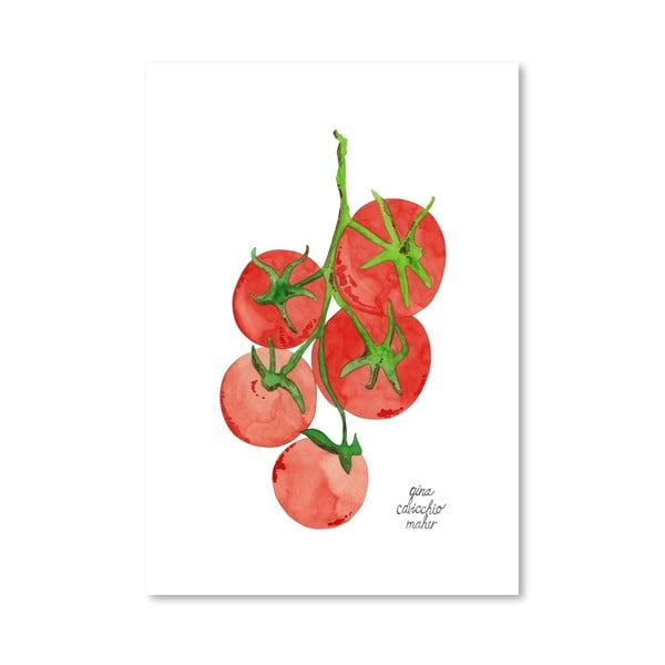 Autorský plakát Tomatoes, 30x42 cm